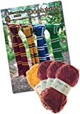 Knitting Bundle Knit Your Own Wizard School Scarf. Wool And Knitting Pattern Provided! (Claret - Red)