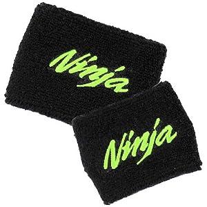 Kawasaki NINJA Brake/Clutch Reservoir Sock Cover Set Available in Black/Green and Black/Red, Fits ZX-6R, ZX-9R, ZX-10R, ZX-12R, ZX-14R, ZX6, ZX9, ZX10, ZX12, ZX14, Ninja