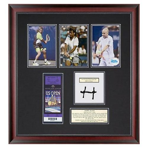 Andre Agassi Limited-Edition Through the Years Photos w/ 2006 US Open Ticket and Finals-Used Net