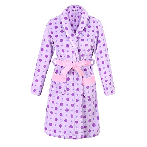 Richie House Girl's Warm and Soft Bathrobe