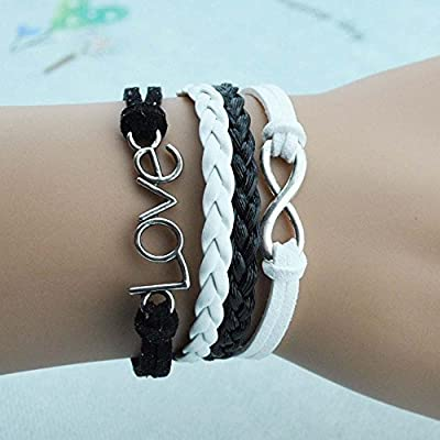 Wild Wind (TM) Luck of Love Multi-Strand Figure 8 Braided Two-Tone Wrap Bracelet