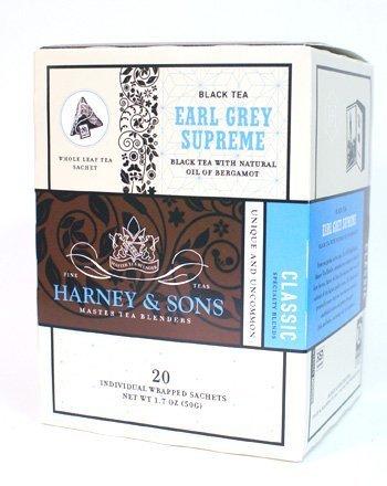 Harney & Sons Fine Teas Earl Grey Supreme - 20 Wrapped Sachets