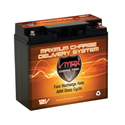 Vmax600 Agm Group 1/2 U1 Deep Cycle Battery Replacement For 3-Wheel Learning Scooters 12V 20Ah Scooter Battery