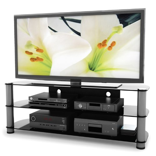 Television Stands Discount Sonax Ny 9584 Metal And Glass Tv Stand