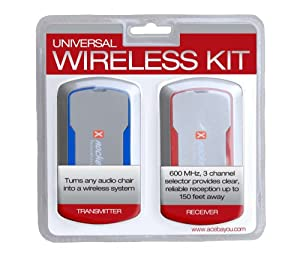Ace Bayou X Rocker Wireless Retrofit System Grey W/Blue & Red