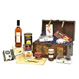 Deluxe Versare Rose Wine & Treats Vintage Chest Gift Hamper Gift ideas for - Fathers Day, Valentines,Presents,Birthday,Men,Him,Dad,Her,Mum,Thank you,Wedding Anniversary,Engagement,18th,21st,30th,40th,50th,60th,70th,80th,90th