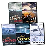 Ann Cleeves Ann Cleeves Shetland Quartet Series 5 Books Collection Pack Set RRP: £46.83 (White Nights, Raven Black, Blue Lightning, Red Bones, Dead Water)
