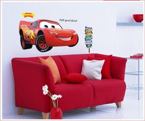 Giant Disney Pixar Car Lightning McQueen Wall Decals