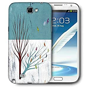 Snoogg Broken Social Scene Feel Good Lost Printed Protective Phone Back Case Cover For Samsung Galaxy Note 2 / Note II