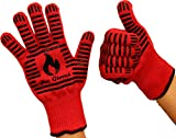 60% OFF - HOT GLOVES - Extreme Heat Resistant Cooking Gloves - Premium Quality - Oven Gloves - BBQ Gloves (2 Gloves - Red) + Bonus: Premium BBQ Recipes Cookbook