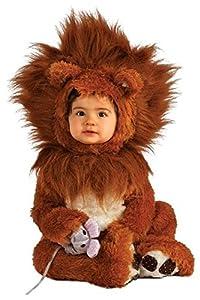 Rubie's Costume Co Unisex-baby Infant Noah Ark Lion Cub Romper, Brown/Beige, 0-6 Months