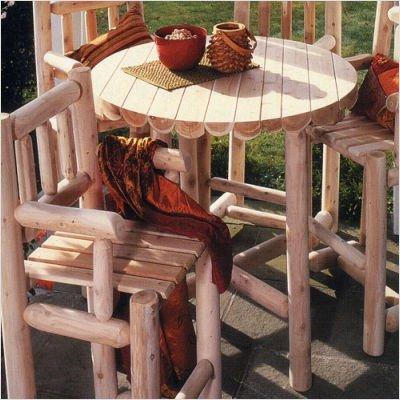 "Cedar Log Bistro Table - 42"""