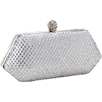 J. Furmani Hardcase Studded Evening Bag (Silver)