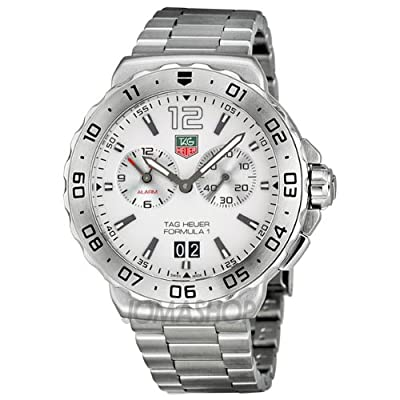 TAG Heuer Men's WAU111B.BA0858 Formula 1 White Dial Grande Date Alarm Watch from TAG Heuer