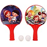 Toyztrend Plastic Super Champ Table Tennis Set Indoor & Outdoor In Assorted Colour For Kids Multicolour