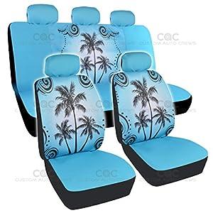 Amazon.com: BDK Blue Palm Tree Design Seat Covers for Car, SUV
