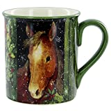 Brown Holiday Horse Mug