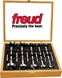 Freud PB-100 Precision Shear 16 Piece 1/4-Inch to 2-1/8-Inch Serrated Edge Forstner Drill Bit Assortment