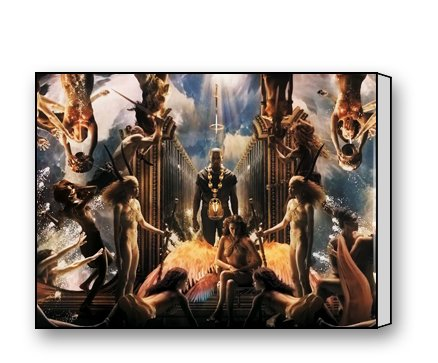 Kanye West Canvas Prints for Modern Wall Art for Home Decoration 16 X 12 Inch (Kanye West Painting compare prices)