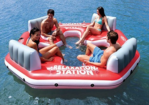 New Shop Intex Pacific Paradise Relaxation Station Water Lounge 4-Person River Tube Raft New! Room For Up To Four To Float! Fast Ship, Warranty! front-924885