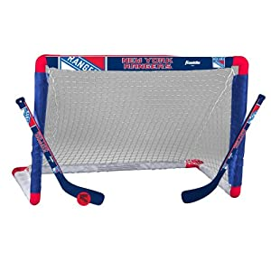 Franklin Sports NHL New York Rangers Team Mini Hockey Set