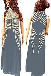 SkyheartFashion by Women's Unique design Grey Gown