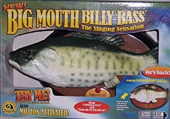 "Big Mouth Billy Bass the Singing Sensation Sings ""I Will Survive"" and ""Take Me To The River"""