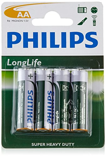 Philips 54946 Pile R6 AA 4 Pièces Longlife