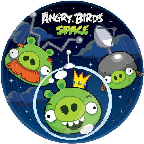 Imagen de Angry Birds placas Espacio Postre 8CT