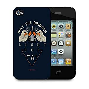 Snoogg Light The Way Designer Protective Back Case Cover For IPHONE 4