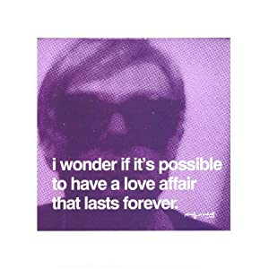 I Wonder If It's Possible To Have A Love Art Print Poster By Andy Warhol, 11  x 14