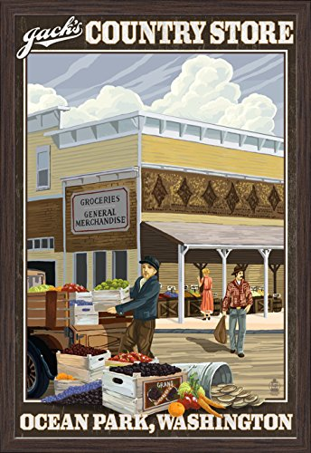 ocean-park-washington-jacks-country-store-24x36-giclee-art-print-gallery-framed-espresso-wood