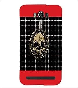 PrintDhaba Skull D-6044 Back Case Cover for ASUS ZENFONE 2 LASER ZE550KL (Multi-Coloured)