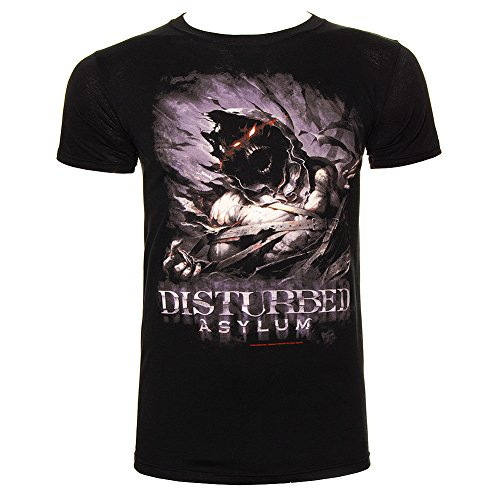 T Shirt Dei Disturbed Asylum (Nero) - Small