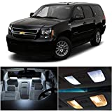 LEDpartsNow Chevy Tahoe 2007-2014 Xenon White Premium LED Interior Lights Package Kit (12 Pieces) + Installation Tool