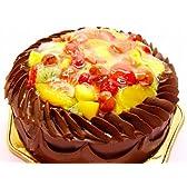 チョコクリームいちごバースディケーキ 8号冷凍販売バースデーケーキ【バースデーケーキ 誕生日ケーキ デコ】::146
