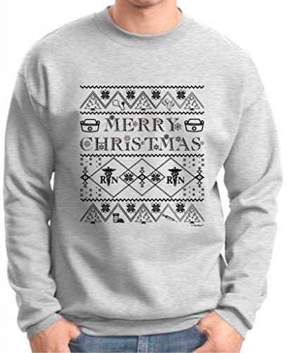 Ugly Christmas Sweater For Nurses Premium Crewneck Sweatshirt Small Ash