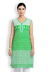 Zola Latest Designer Cotton Green Printed Kurti