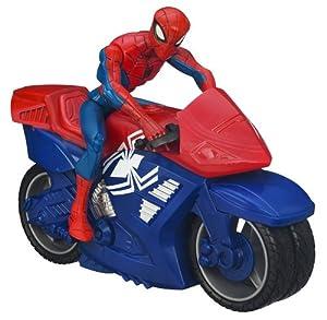 Spider-Man - 78961 - Figurine - Spider-Man Movie - Véhicule Zoom'n'go - Motorcycle
