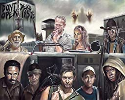 The walking dead, TV series, poster, drawing, print, 16\