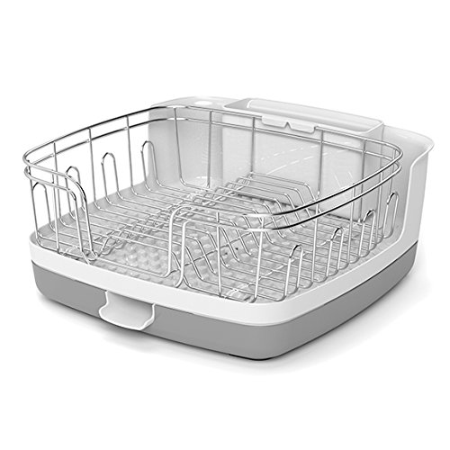 reo versa new compact stainless steel kitchen organizer sink drainer dish rack ebay. Black Bedroom Furniture Sets. Home Design Ideas