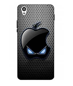 Case Cover Logo Printed Black Hard Back Cover For One Plus X