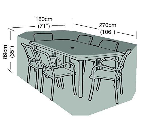 Garland W 1412 Schutzhülle Abdeckhaube rechteckig für Sitzgruppe 6 Personen
