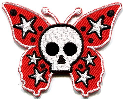 Butterfly Skull Horror Goth Emo Punk Biker Applique Iron-on Patch New S-182 by SITAWAN