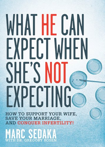 Image: What He Can Expect When She's Not Expecting: How to Support Your Wife, Save Your Marriage, and Conquer Infertility!, by Marc Sedaka and Gregory Rosen. Publisher: Skyhorse Publishing (March 8, 2011)