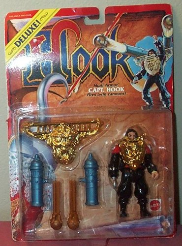 Picture of Mattel Hook Deluxe Skull Armor Captain Hook Fires Twin Cannons Action Figure (B000BV7QNC) (Mattel Action Figures)