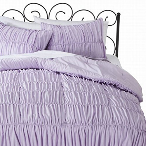 Xhilaration Twin Xl Purple Lavender Ruched Comforter Set With Sham 2 Pc front-963956