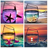 KOTWDQ 4 Pack 5d Diamond Painting Kits for Adults Kids Set Cup Full Drill Diamond dotz for Home Wall Decor (Color: 4pack CUP, Tamaño: 30x30CM)