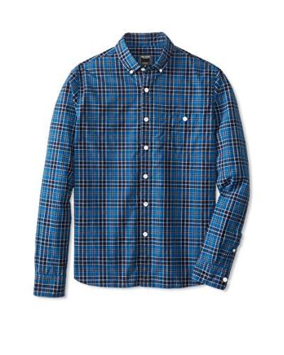 Todd Snyder Men's Blue Plaid Shirt