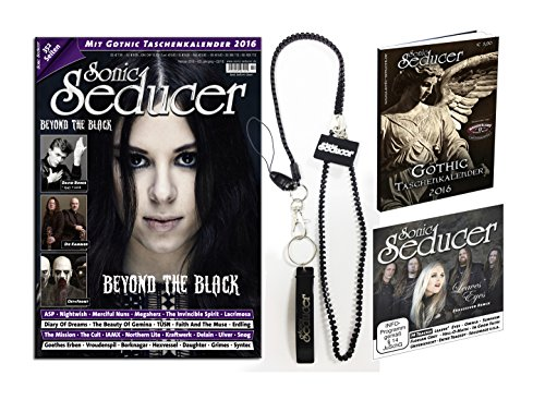 LIMITED EDITION: Sonic Seducer 02-2016 mit exkl. Sonic Seducer Lanyard + Beyond The Black-Titelstory + Gatefold-Titel: TÜSN + Gothic Taschenkalender 2016 + CD, Bands: Nightwish, ASP u.v.m.